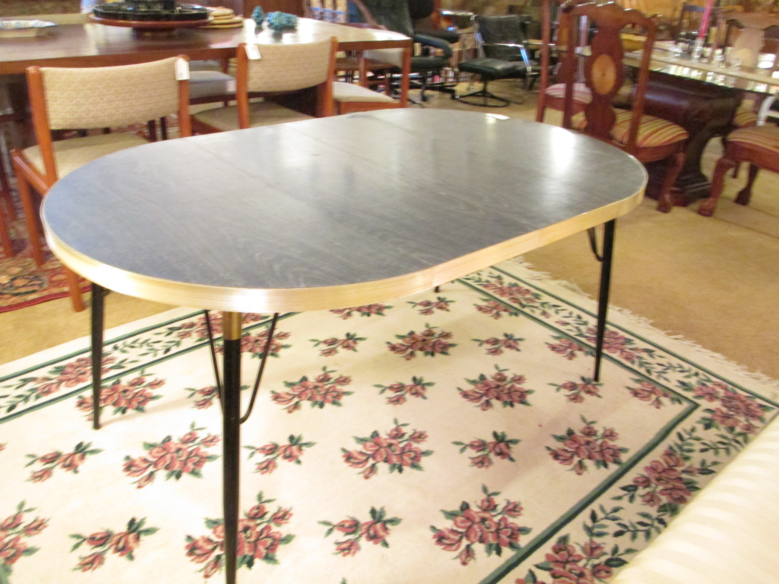 Faux Bois Vintage Laminate Table W Leaves Sold