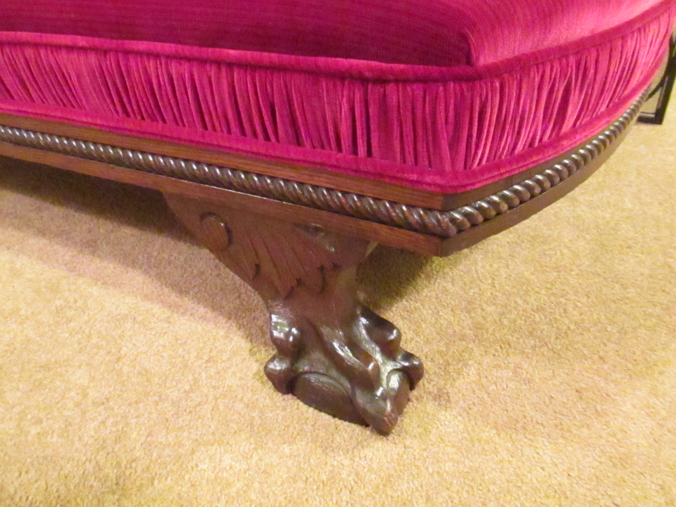 Red Velvet Fainting Couch – SOLD – Ballard Consignment