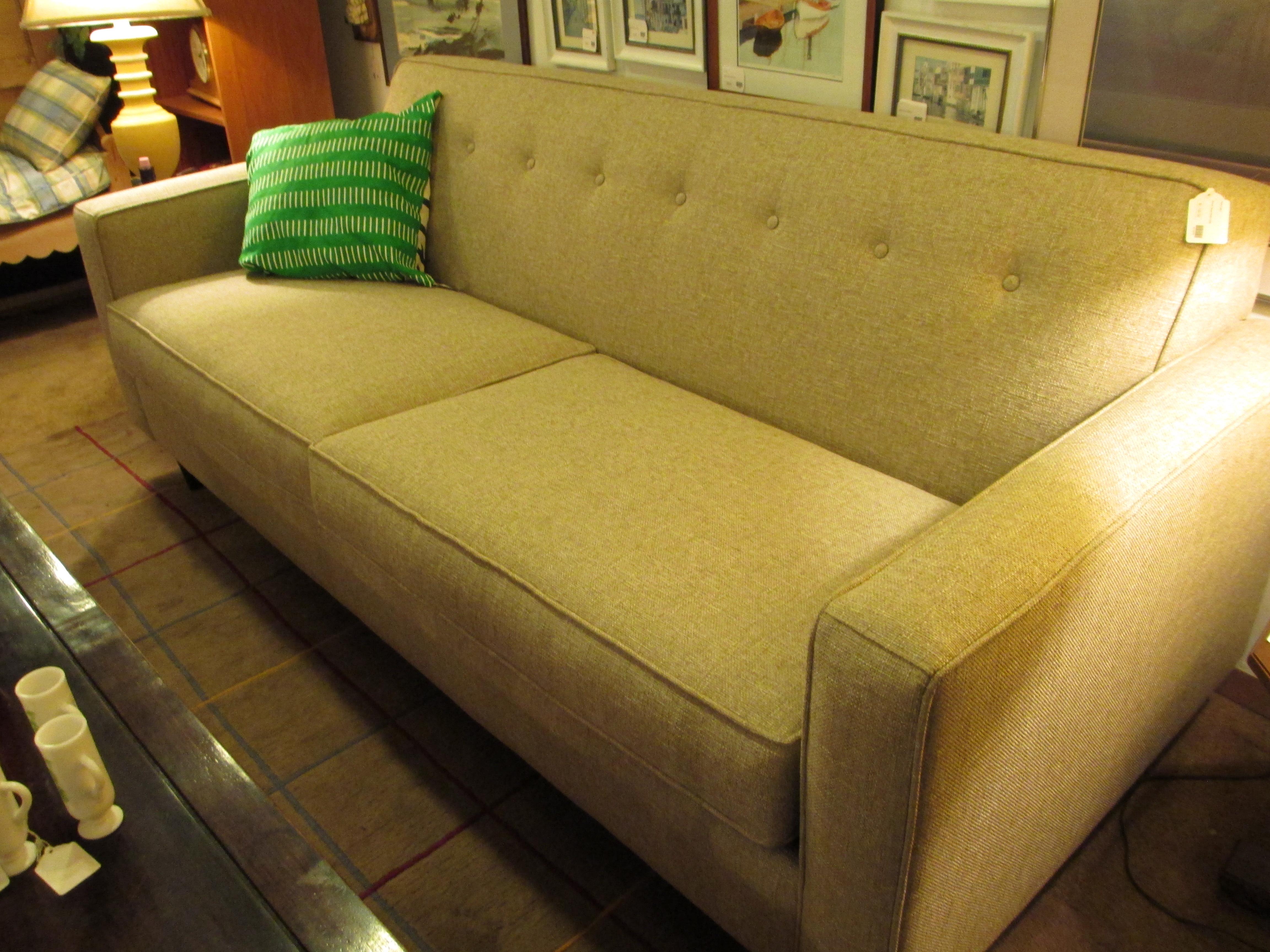 Biltwell Taupe Tufted Modern Sofa – $1200 – Ballard