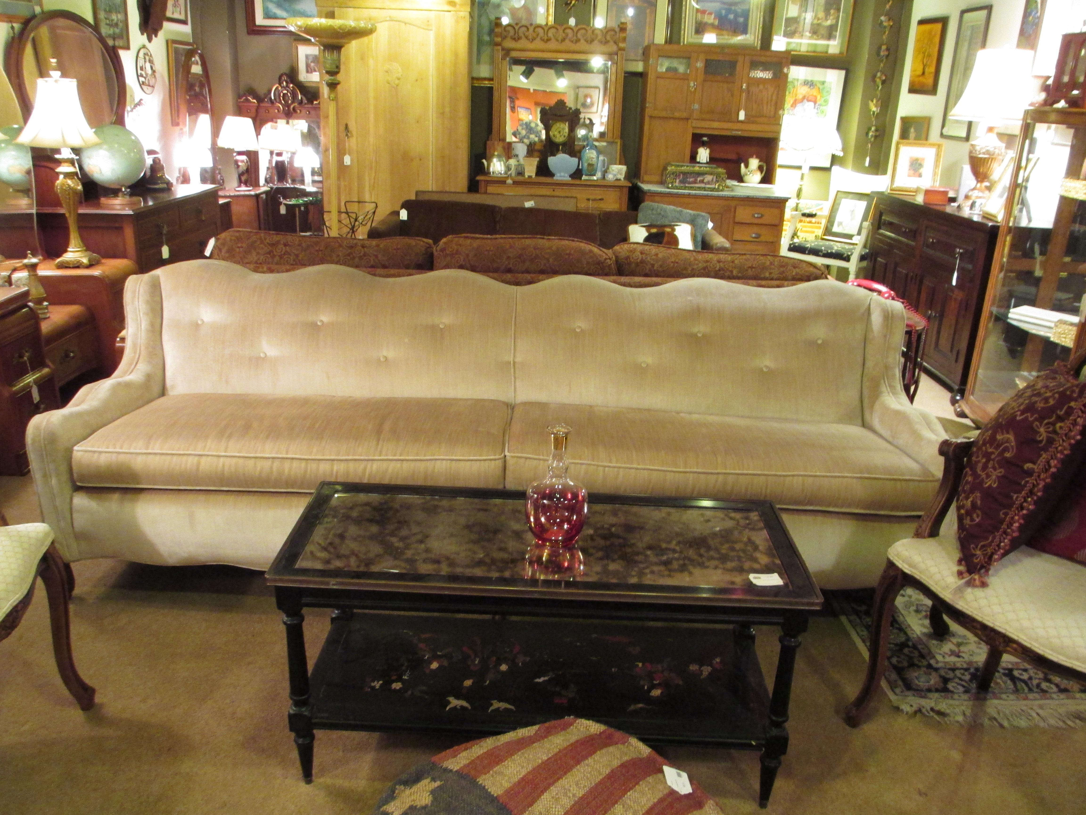 Vintage Victorian Style Cream Velvet Sofa SOLD – Ballard Consignment