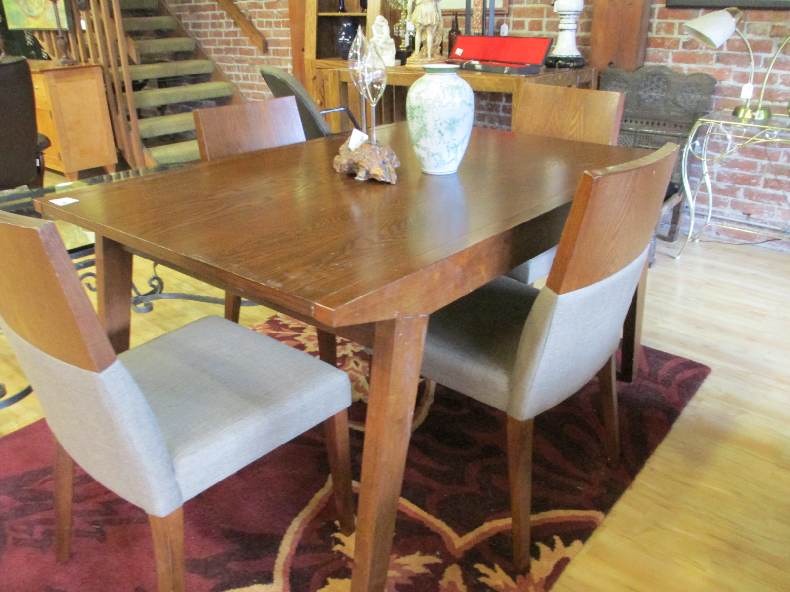 Walnut Dining Table And Four Chairs Sold Ballard