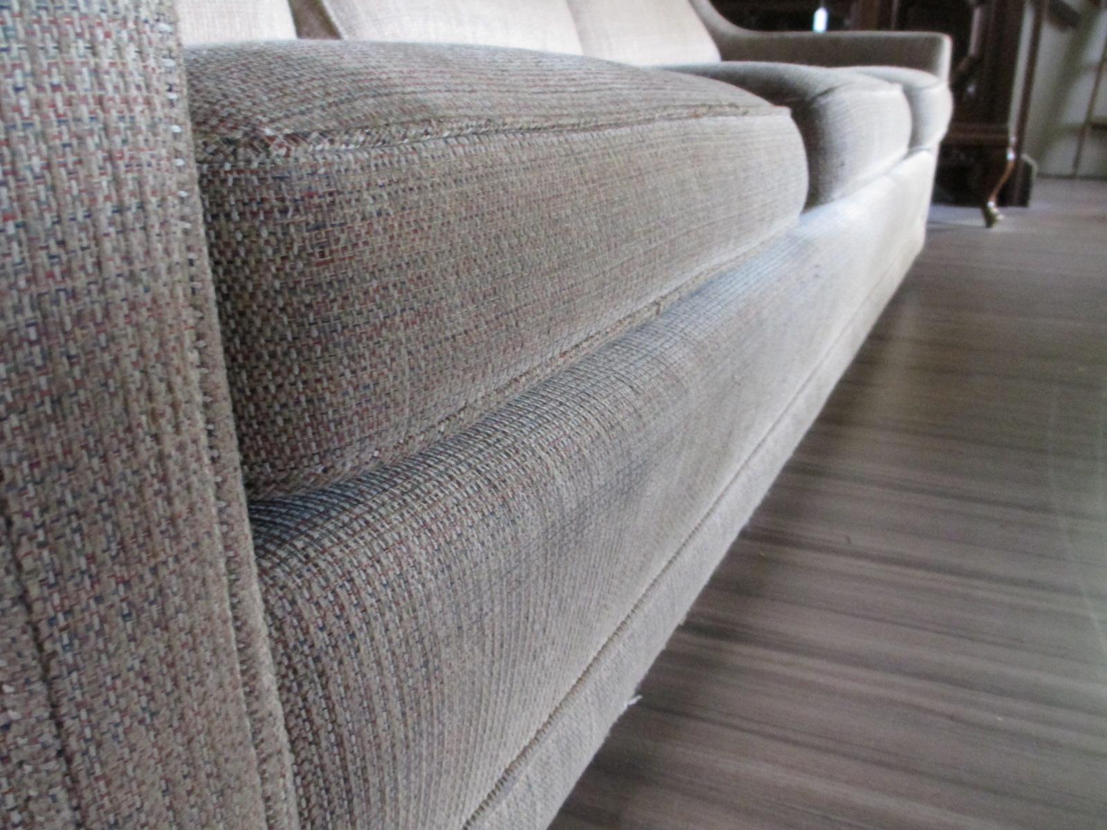 Beige Tweed Sofa Sold Ballard Consignment