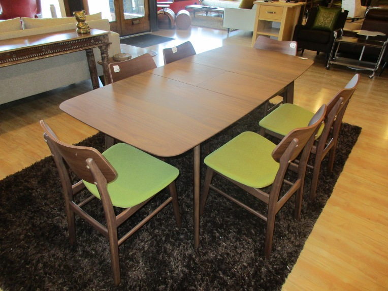 Mid-Century Black Walnut Butterfly Dining Table $395, Item #73242