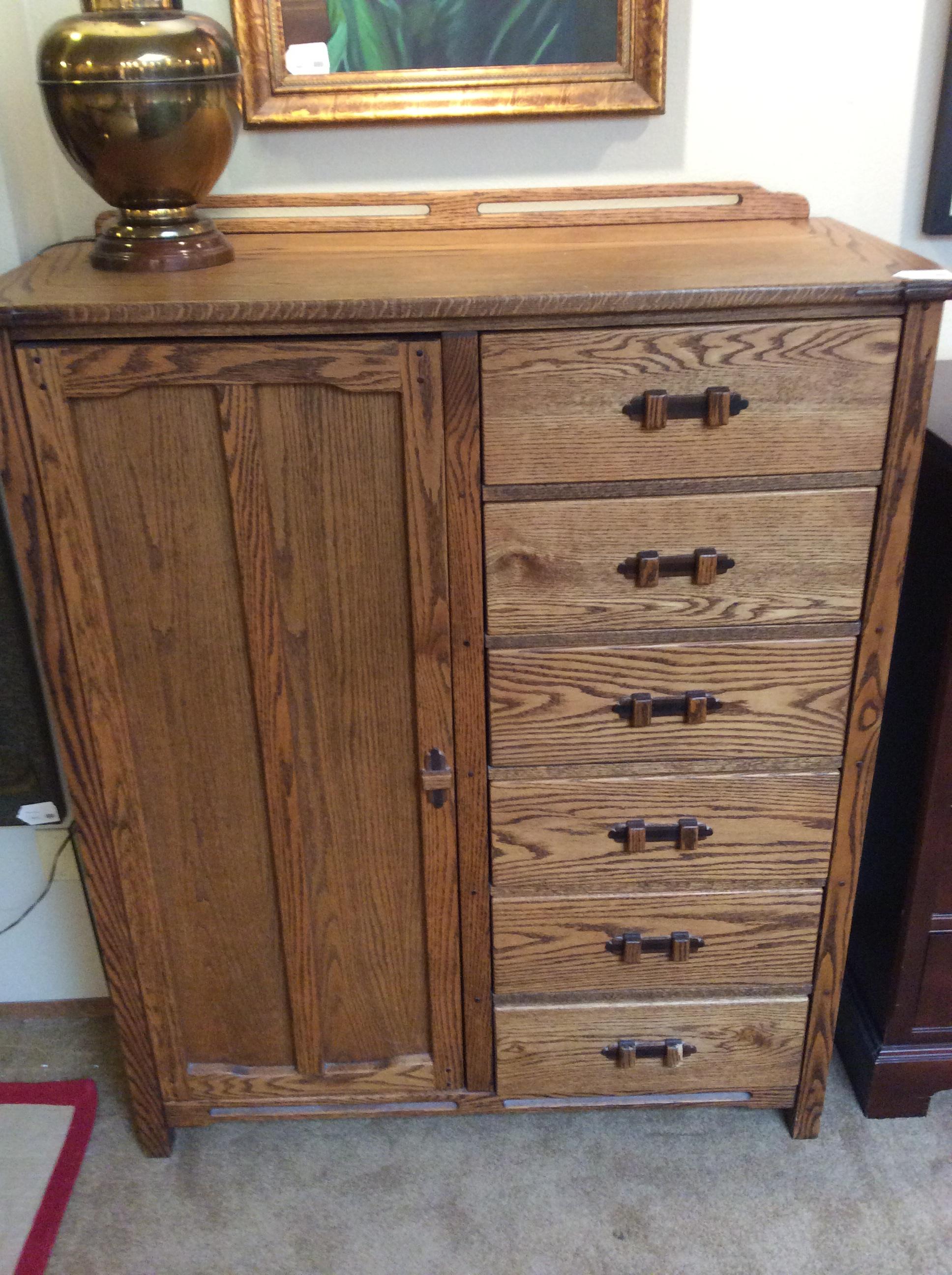 Oak Wardrobe $450 SOLD – Ballard Consignment
