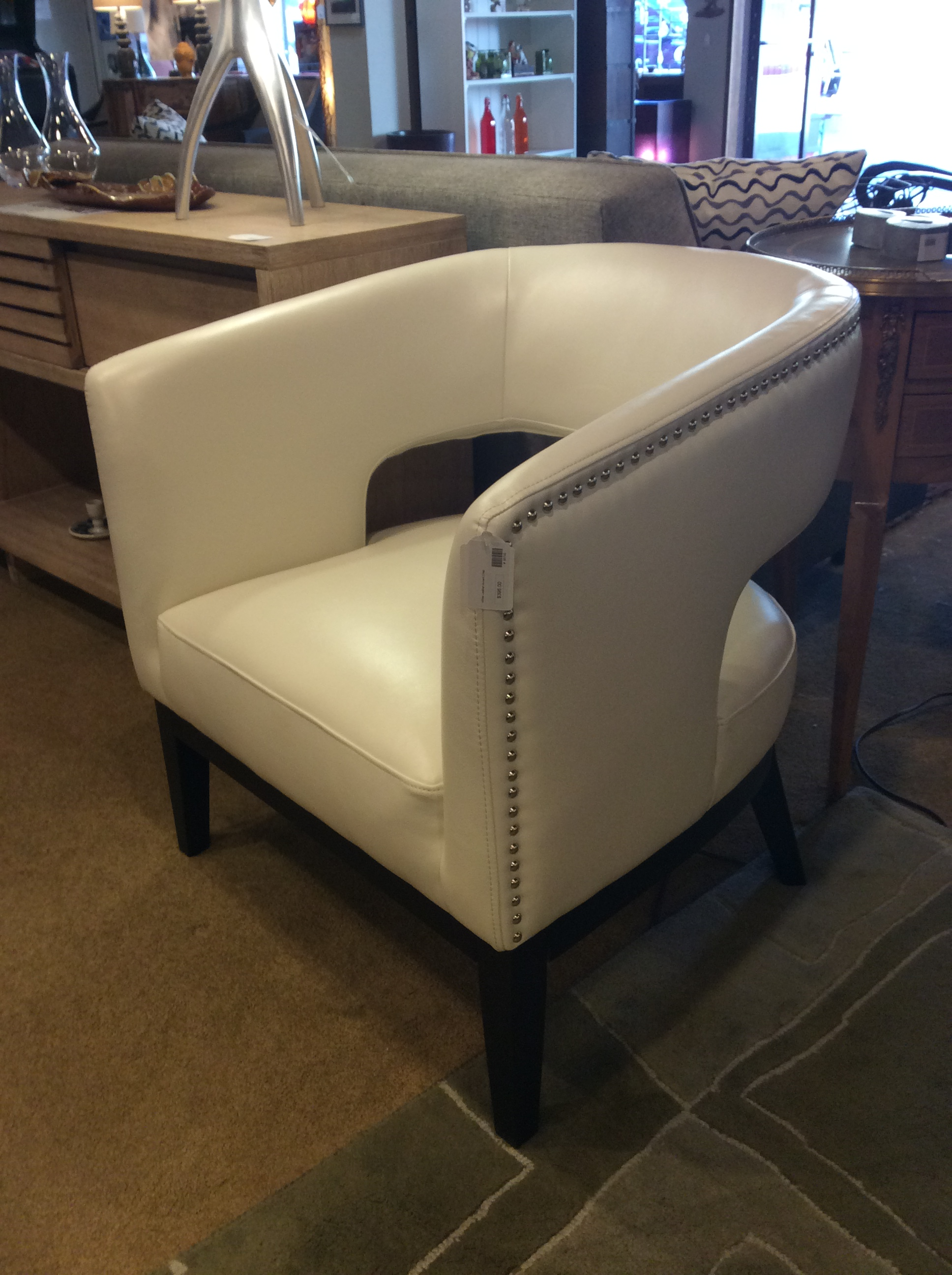 Leather Accent Chair 395 Ballard Consignment
