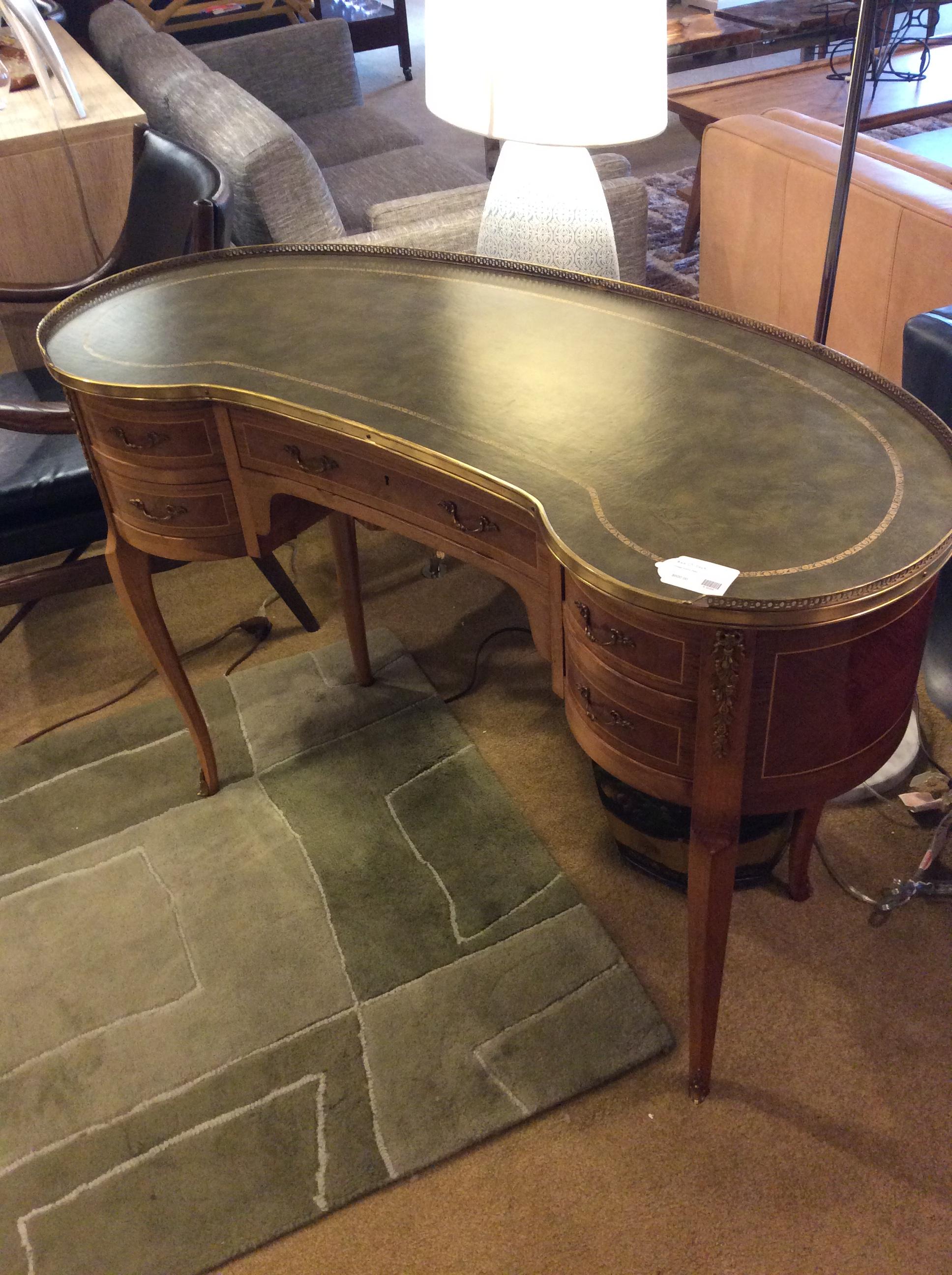 Vintage Kidney Desk 600 Sold Ballard Consignment